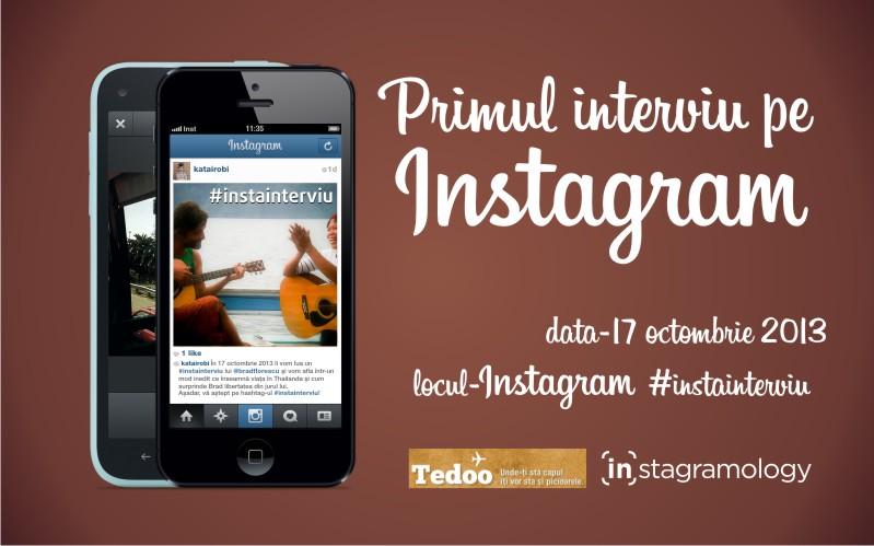 #Instainterviu – primul interviu-concept pe Instagram